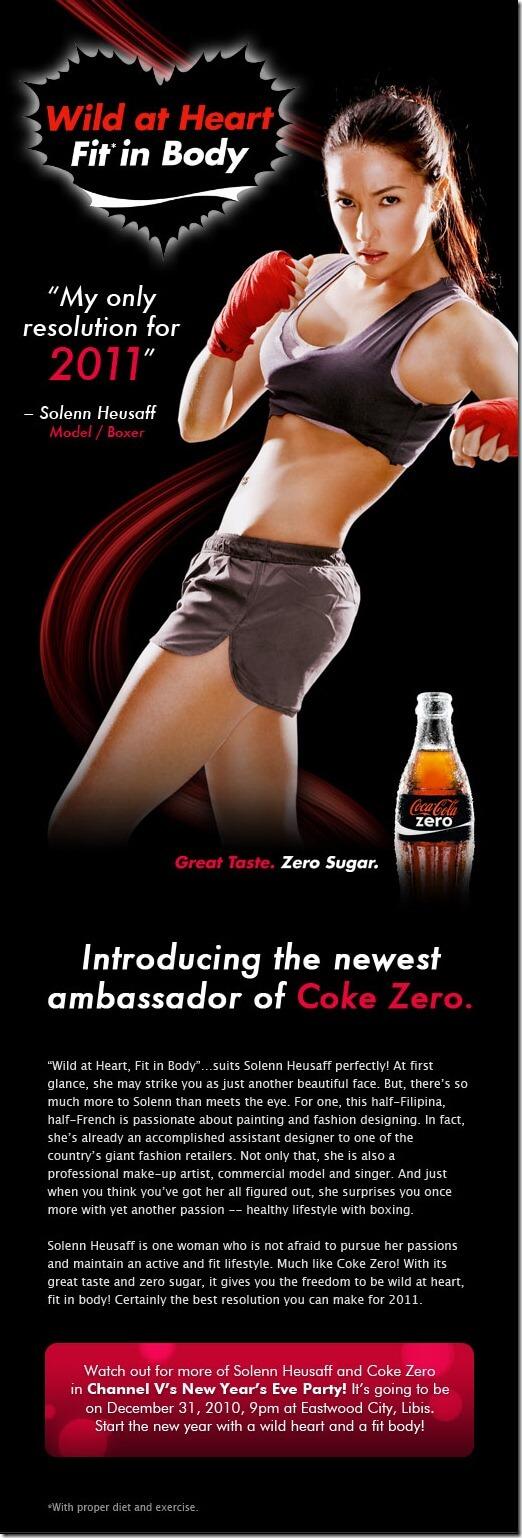 Coke Zero endorser - about Solenn Heusaff