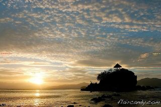 Cloud, Sunset and Sea - flower island palawan