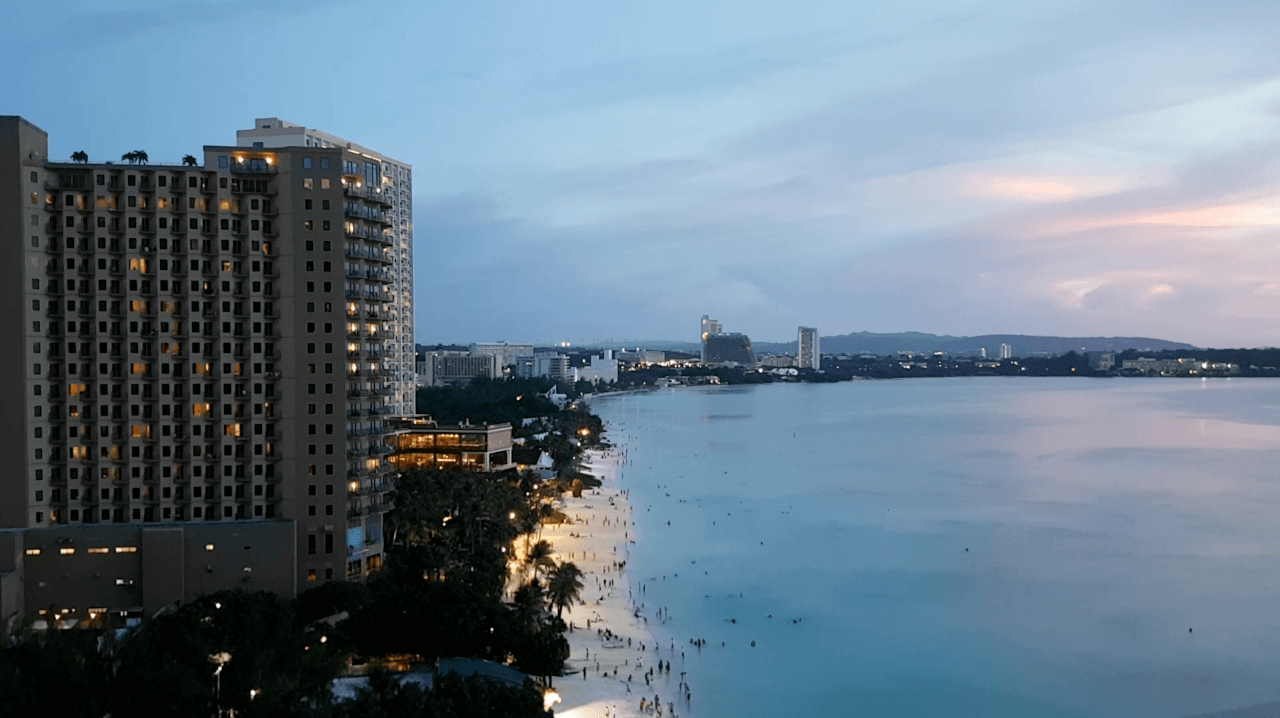 Sunset View at Guam Reef and Olive