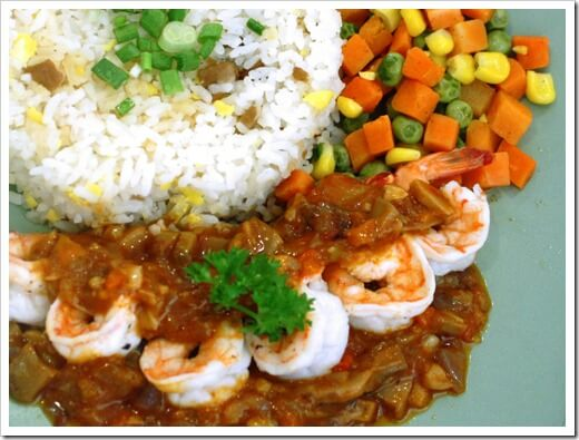Shrimp Gambas in spicy sauce 2