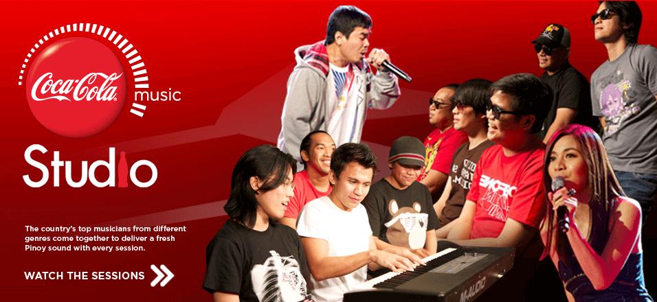 coca-cola music studio MYX